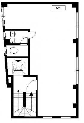 新井鐵工ビル:基準階図面