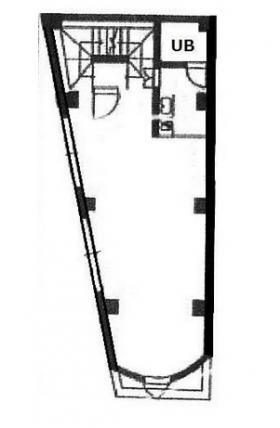 一番町ビル:基準階図面