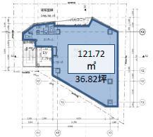 仮)シエルブルー恵比寿1丁目ビル 7F 36.82坪(121.71m<sup>2</sup>) 図面