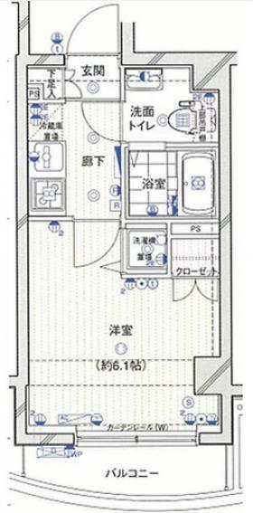 エクセリア渋谷富ヶ谷ビル:基準階図面