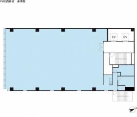 PMO西新宿ビル:基準階図面