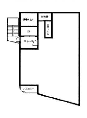 貸事務所ビル:基準階図面