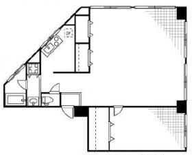 アオイシャトービル:基準階図面