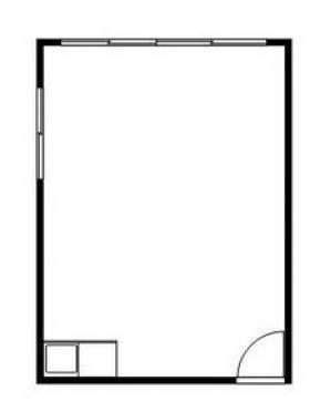 富士計量器ビル:基準階図面