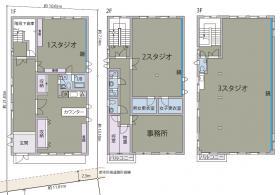 小豆沢4丁目一棟貸しビル:基準階図面
