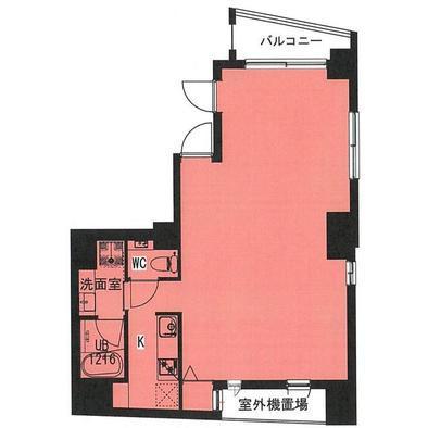 プチ・ウィルビル 4F 16.91坪(55.90m<sup>2</sup>):基準階図面