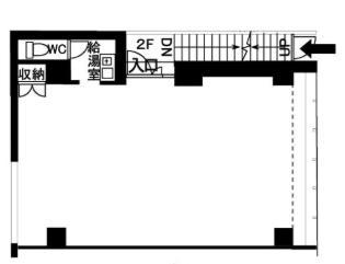 木原正三堂ビル 2F 20坪(66.11m<sup>2</sup>) 図面