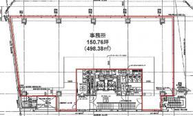(仮称)神南一丁目計画ビル:基準階図面