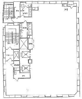 ニューリバータワー:基準階図面