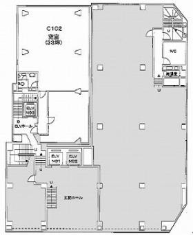 太洋ビルディング 第1新館:基準階図面