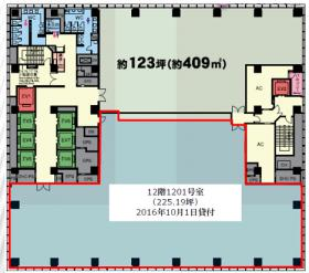室町東三井ビルディング:基準階図面