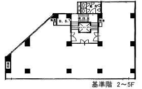 久田ビル:基準階図面