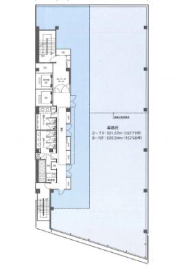 日本橋本町1丁目ビル:基準階図面