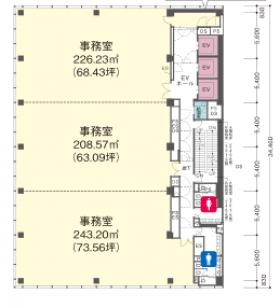日本橋本町YSビル:基準階図面