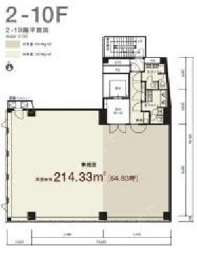 VORT浜松町Ⅰ(旧浜松町プレイス)ビル:基準階図面