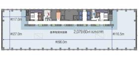 日比谷パークフロント:基準階図面