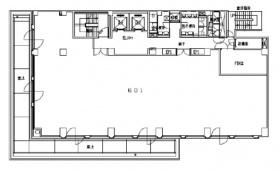 共同ビル(一番町):基準階図面