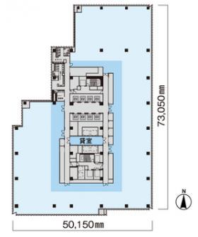 東急キャピトルタワー:基準階図面