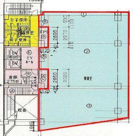 九段サウスサイドスクエア(旧Daiwa九段)ビル:基準階図面