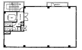 芝浦MYビル:基準階図面