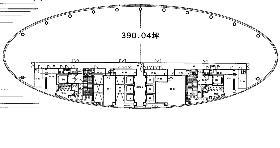 品川インターシティA棟の基準階図面