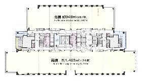 神保町三井ビル:基準階図面