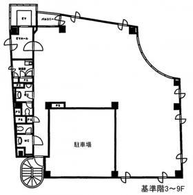 IS弓町ビル:基準階図面