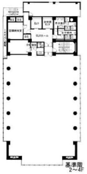 江原ビル:基準階図面