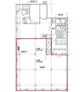 上野ビル:基準階図面