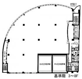 ユニゾ東神田一丁目(東神田フコク生命)ビル:基準階図面
