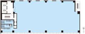 PMO秋葉原Ⅱビル:基準階図面