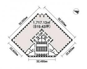 ガーデンエアタワービル:基準階図面