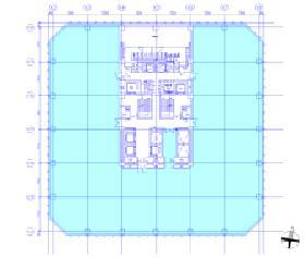 平河町森タワー:基準階図面