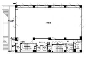 六番町SKビル:基準階図面