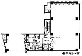 西新橋JKビル:基準階図面