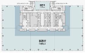 グラントウキョウサウスタワー:基準階図面