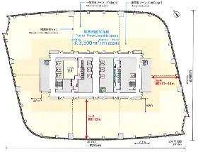 虎ノ門ヒルズ森タワー:基準階図面