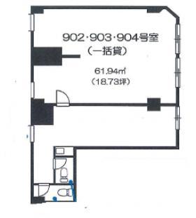 ワコーレ新宿第1ビル:基準階図面