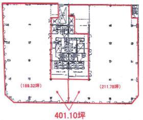 Daiwa御成門ビル:基準階図面