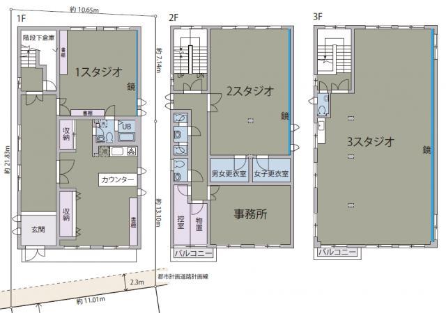 東京都板橋区小豆沢 約135坪の図面