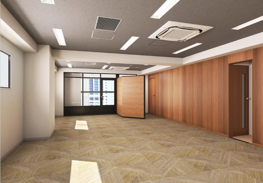 東京都港区西新橋 約35坪の内装